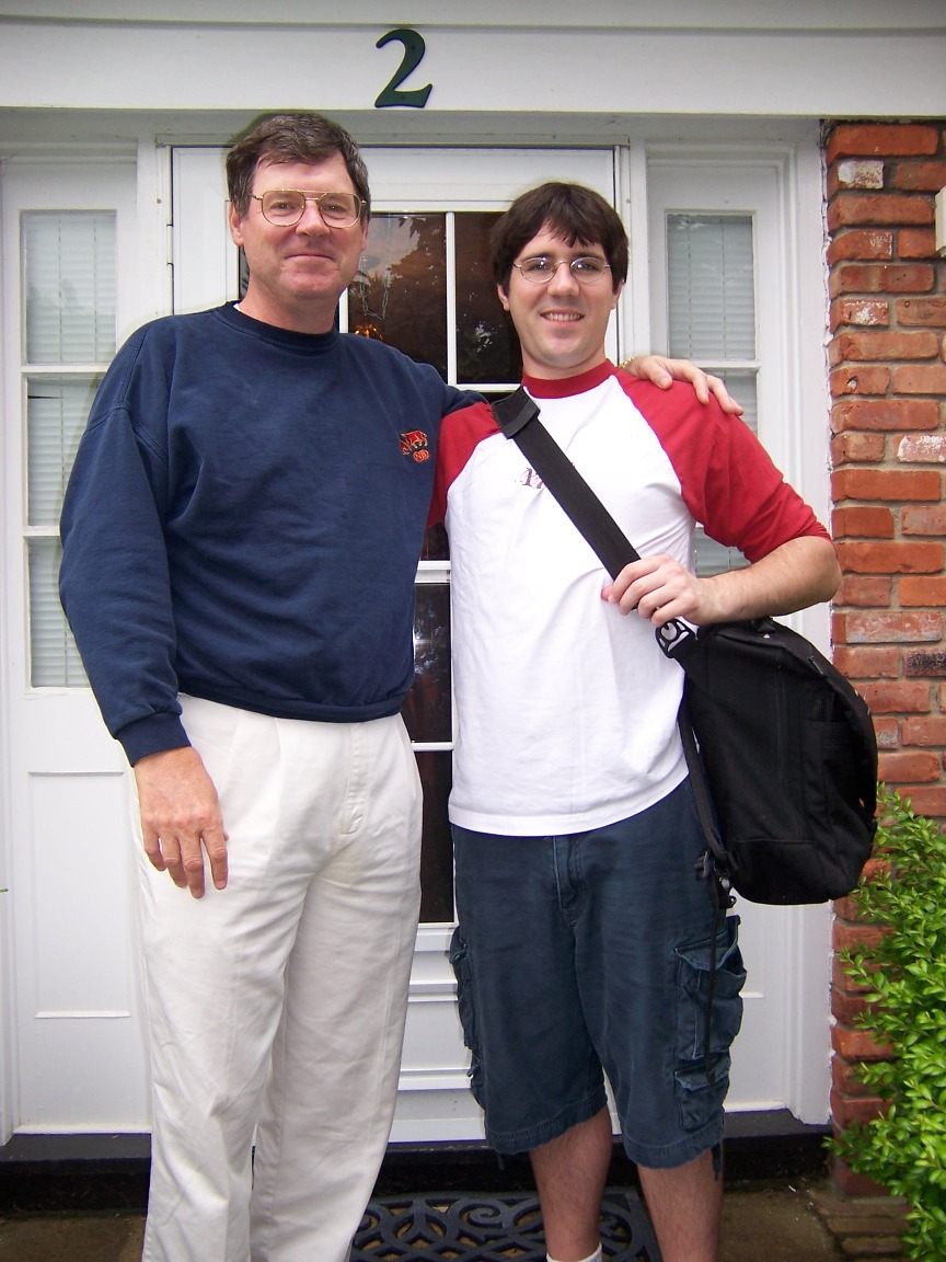 Dad and me before I left for India